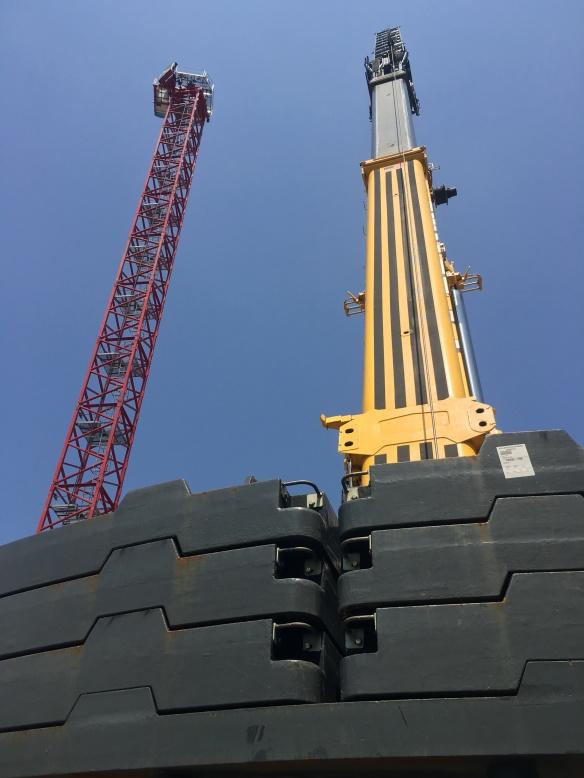 Atrium Village tower crane