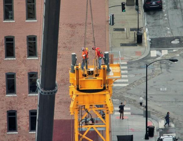 625 West Adams tower crane