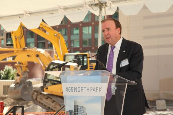 465 North Park groundbreaking