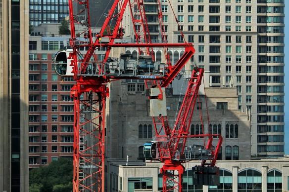 Simpson-Querrey tower cranes