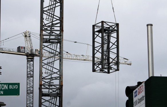 McDonald's headquarters tower cranes