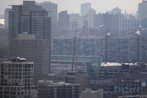 Hilton McCormick Place tower crane