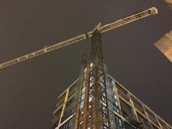 165 North Desplaines tower crane
