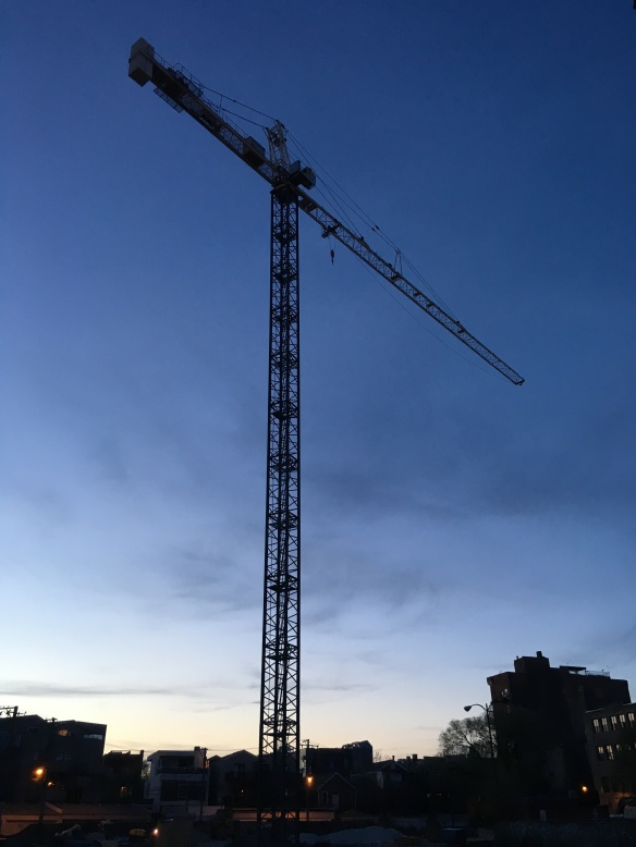 Wicker Park Connection tower crane