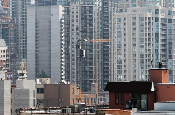 Moxy Hotel tower crane
