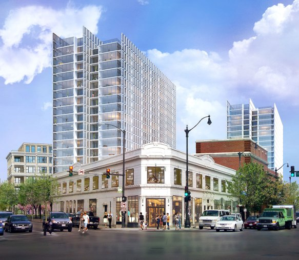 A rendering of The Lincoln Common from Antunovich Associates.
