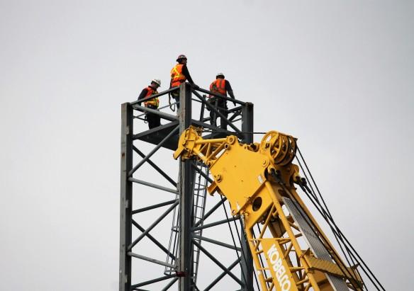 McDonald's tower crane assembly