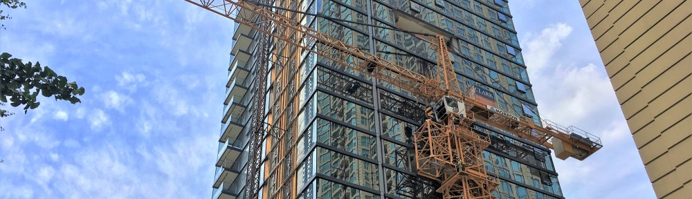 8 East Huron tower crane