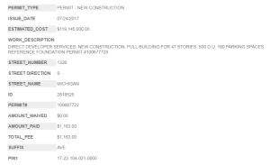 1326 South Michigan full-build permit