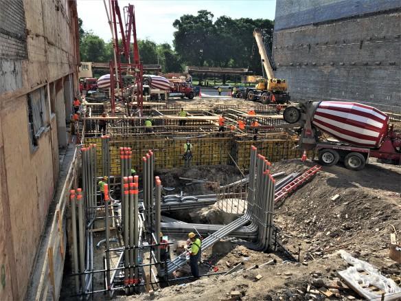 Essex On The Park concrete pour