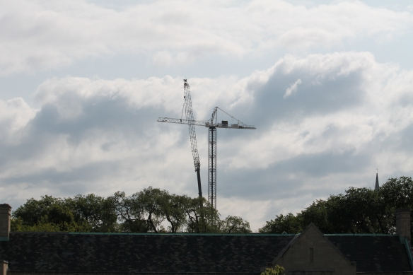The Lincoln Common south tower crane