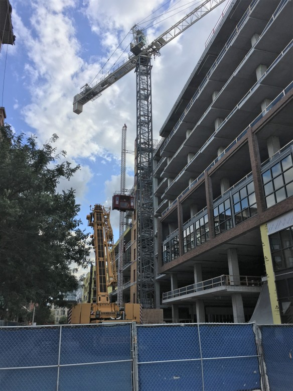 McDonald's Headquarters tower crane removal