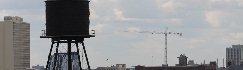 tower flag crane Goose Island