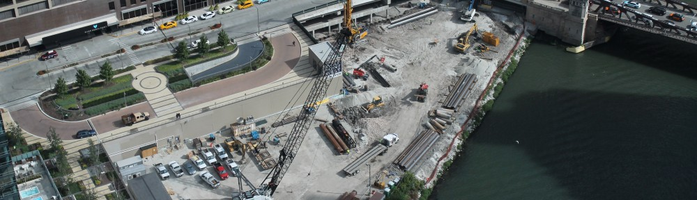 Wolf Point East pile driving