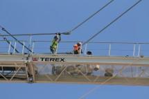1407 On Michigan tower crane removal 2