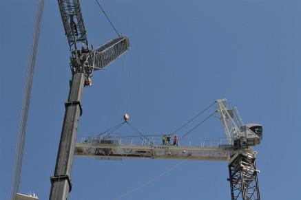 1407 On Michigan tower crane removal 1