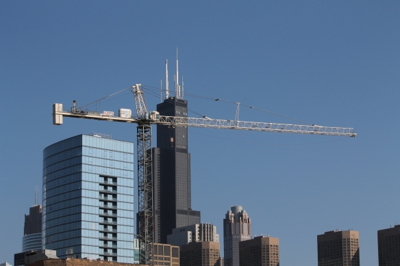 Hoxton Chicago hotel tower crane