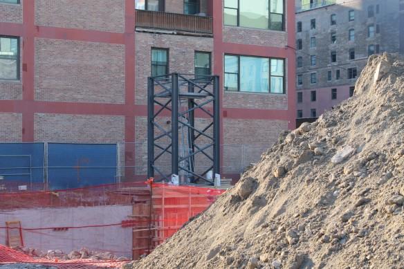 808 West Van Buren tower crane stub
