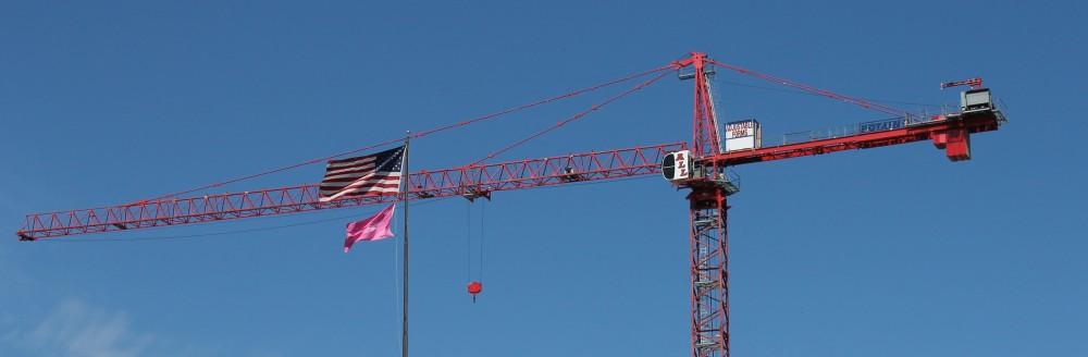 West Loop crane flag tank