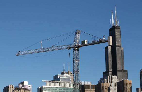 Nobu Hotel tower crane
