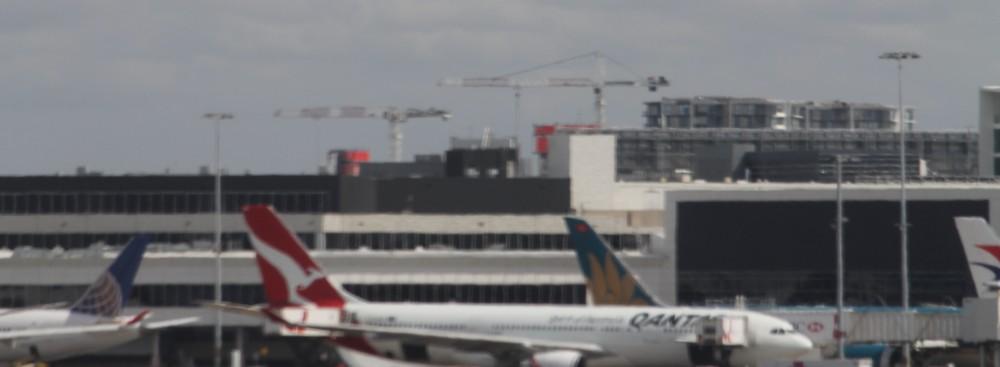 Sydney Airport tower cranes