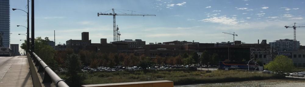 West Loop tower cranes