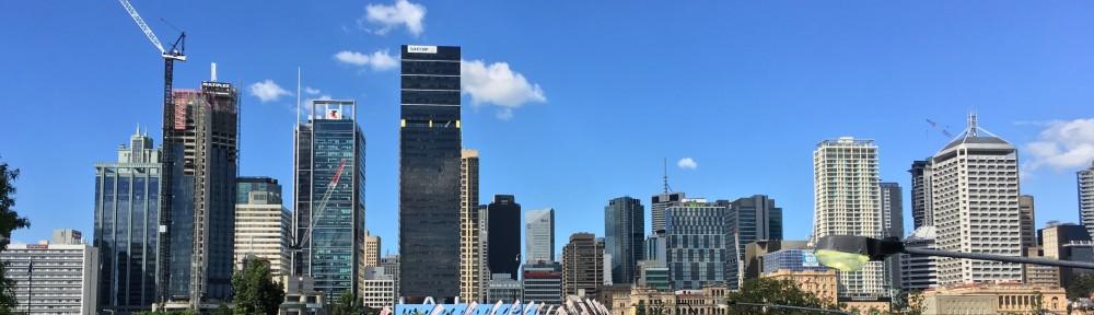 Brisbane Victoria Bridge tower cranes