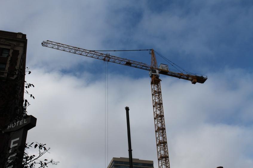 Home2 Suites tower crane