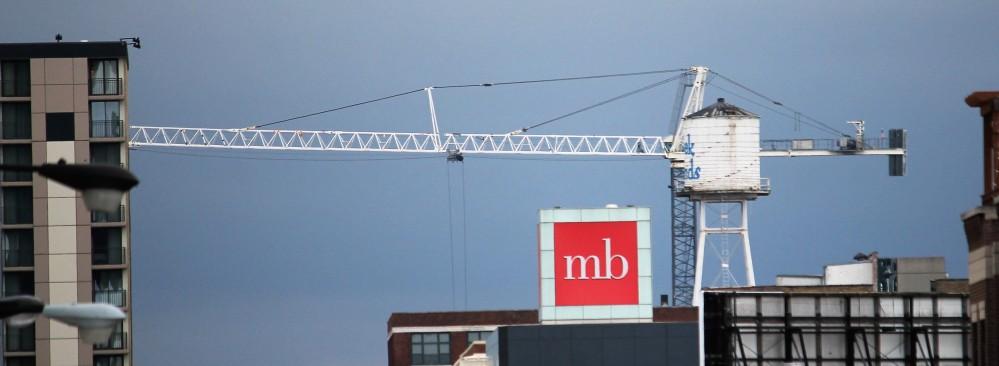 The Van Buren tower crane