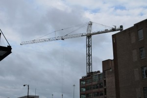 The Van Buren tower crane