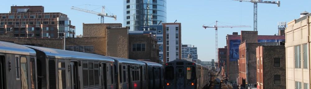 32 December Chicago tower cranes