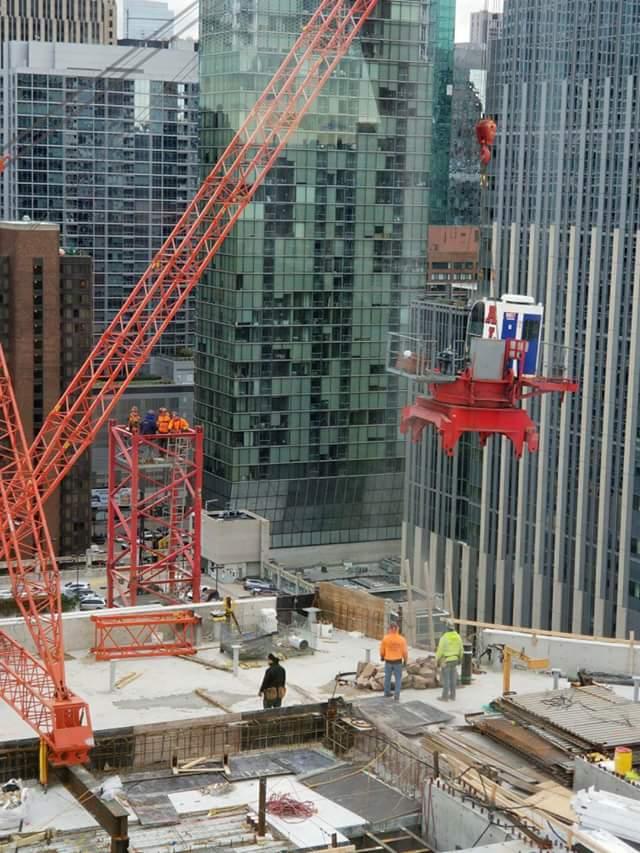 Simpson Querrey tower crane removal