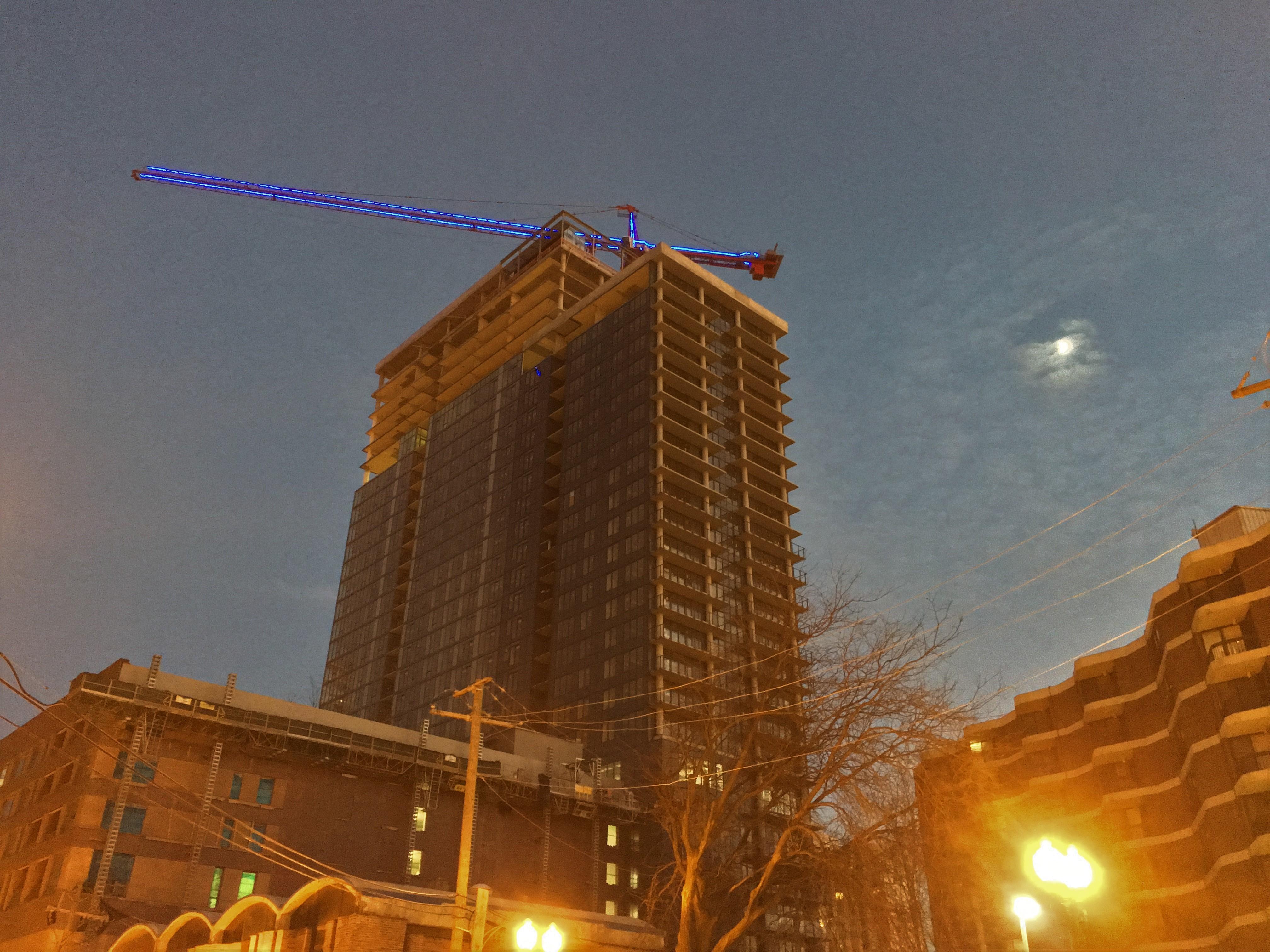 Onni Group glow crane