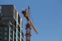 Triple-branded Hilton tower crane removal 7