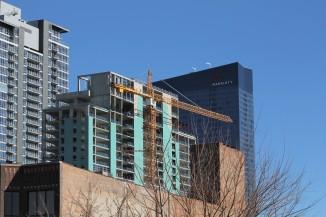 Triple-branded Hilton tower crane removal 10