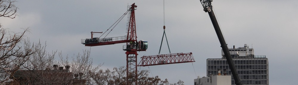Belmont Village tower crane