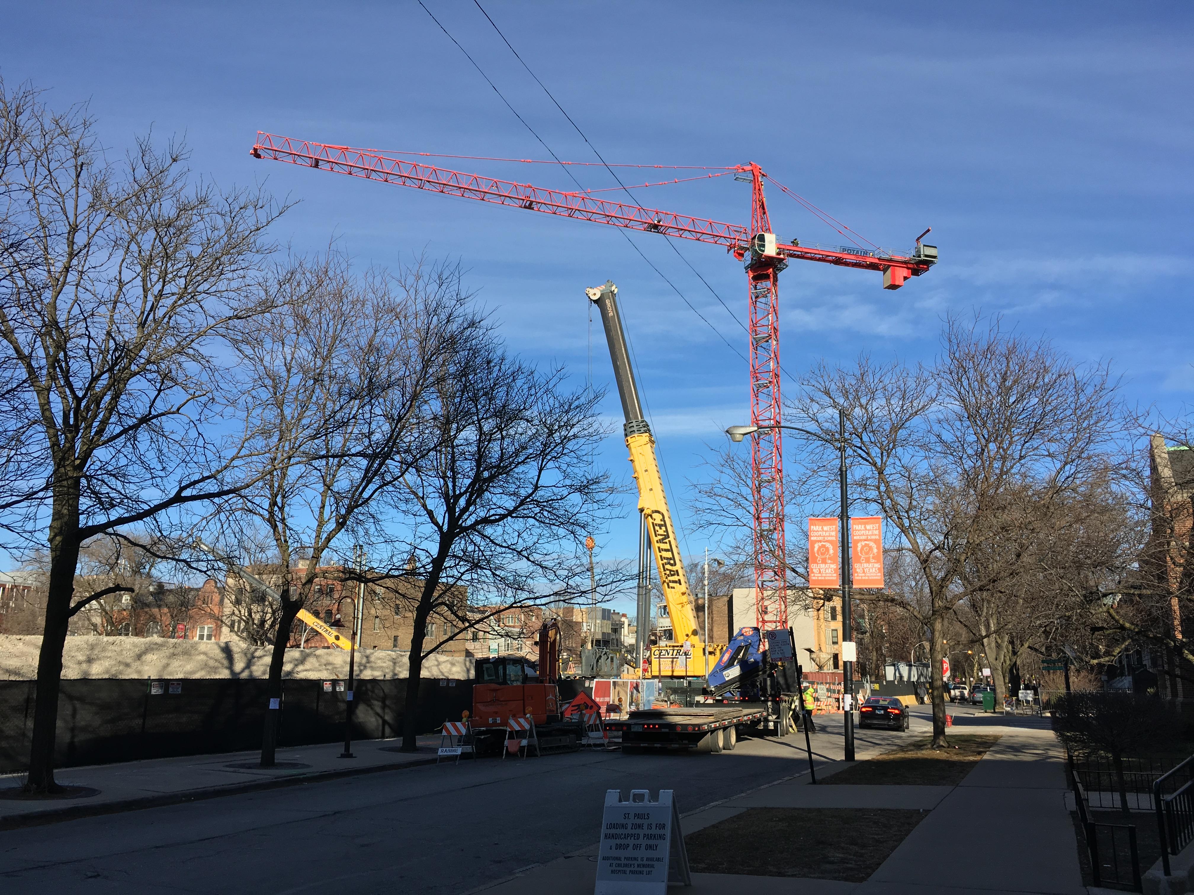 Belmont Village tower crane