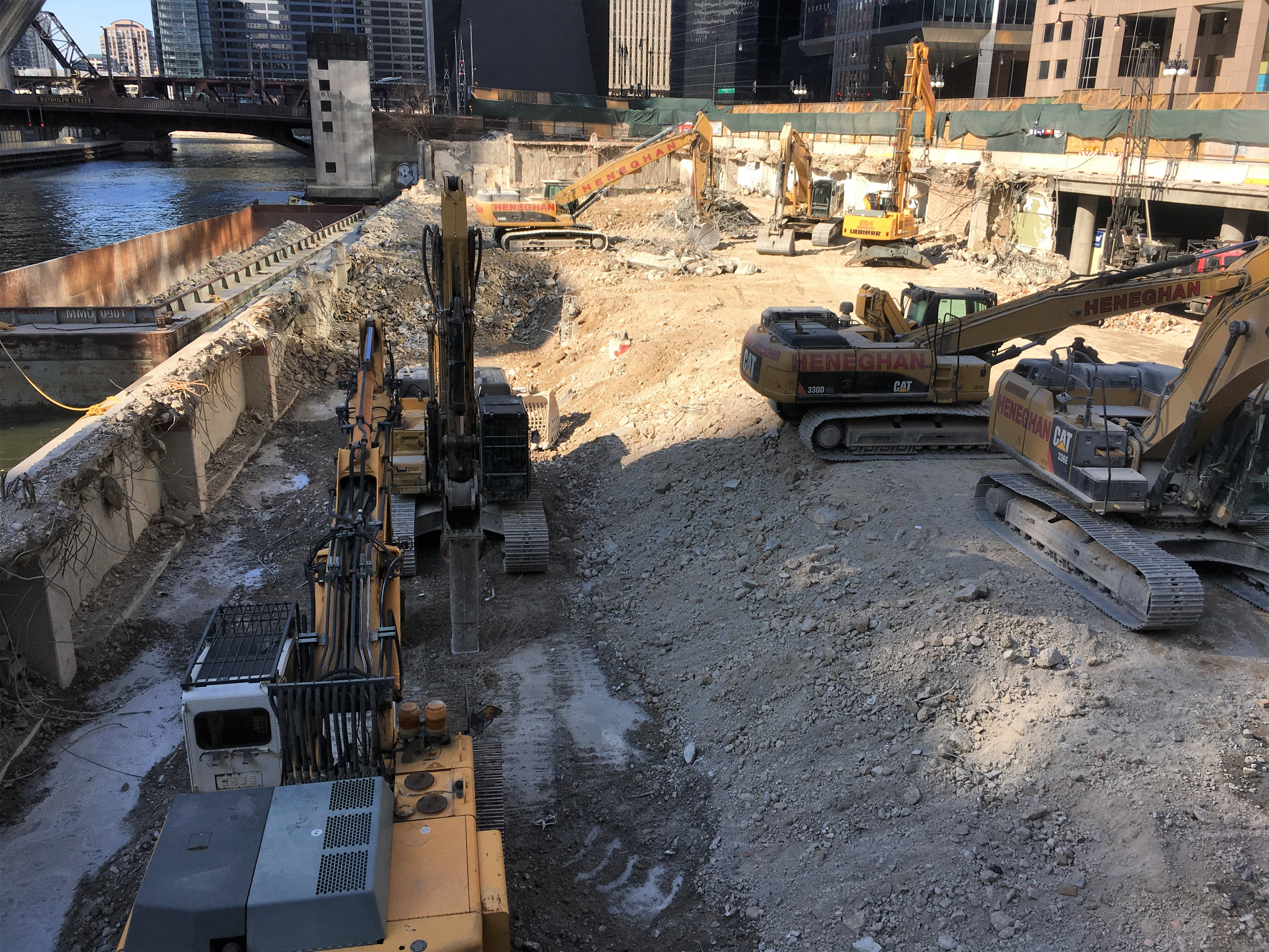 110 North Wacker demolition April 2018
