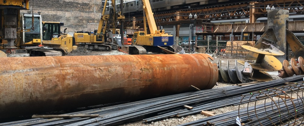 145 South Wells caissons