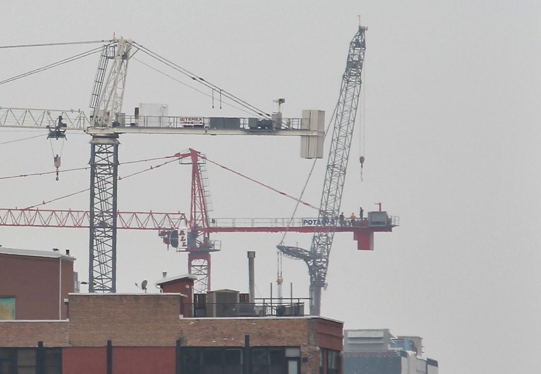 210 North Carpenter crane removal