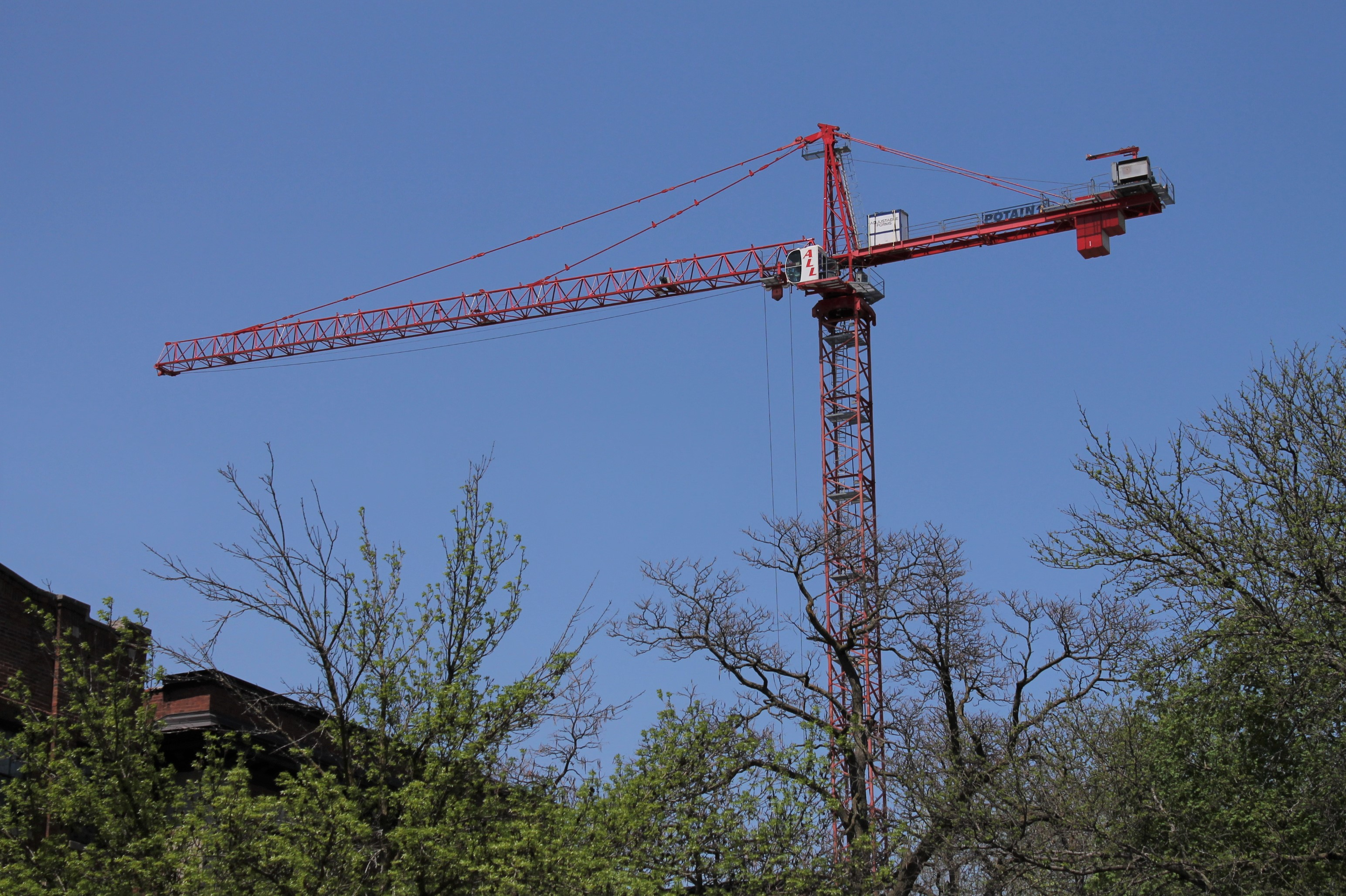 5252 South Cornell tower crane