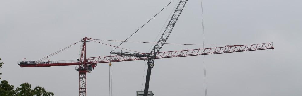 210 North Carpenter tower crane removal