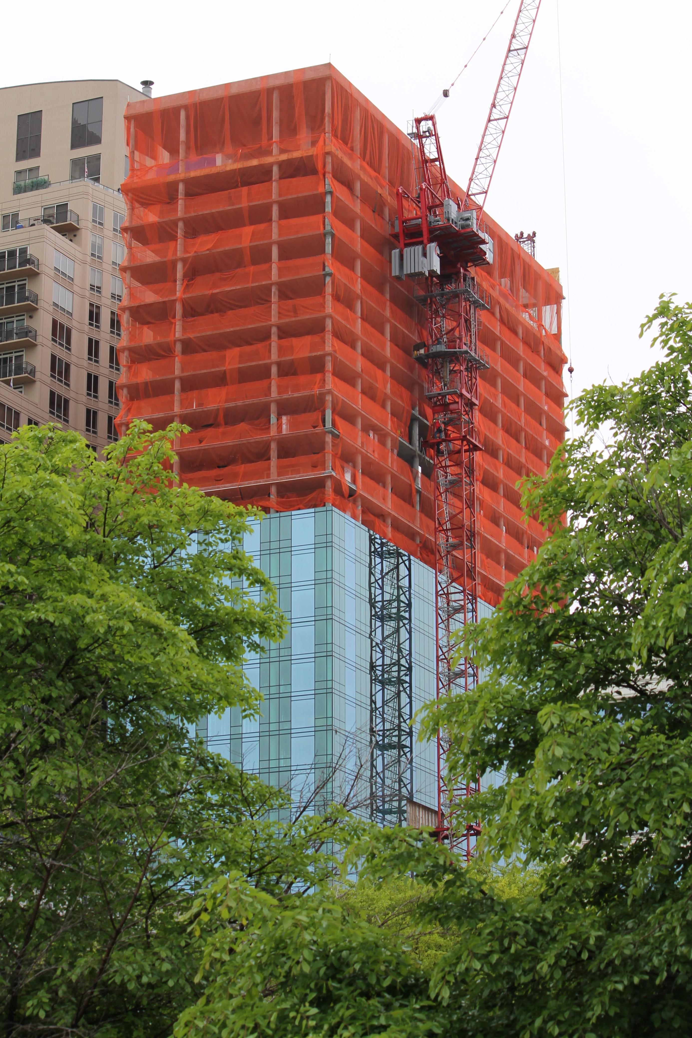 1101 South Wabash crane removal