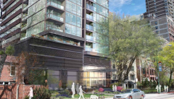 Rendering of 450 West Belmont from the 44th Ward presentation.