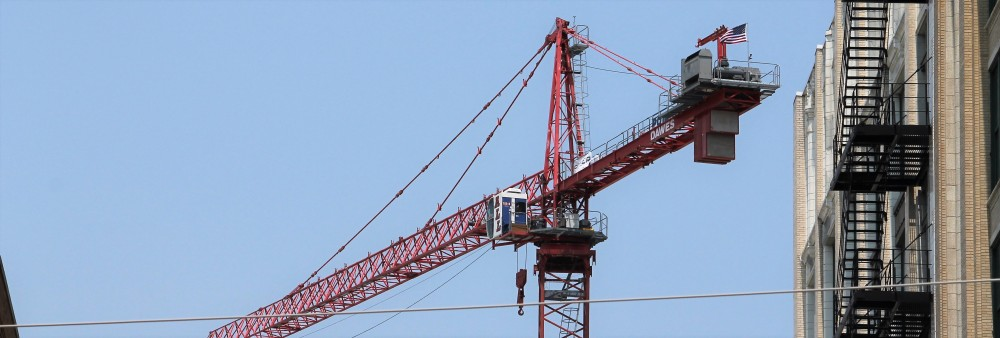 Milieu West Loop tower crane