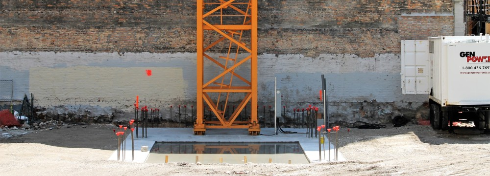 145 South Wells tower crane stub