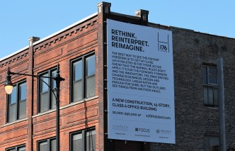 Old signage for what was going to be 176 North Halsted.
