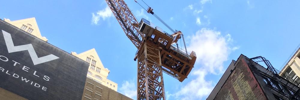 145 South Wells tower crane