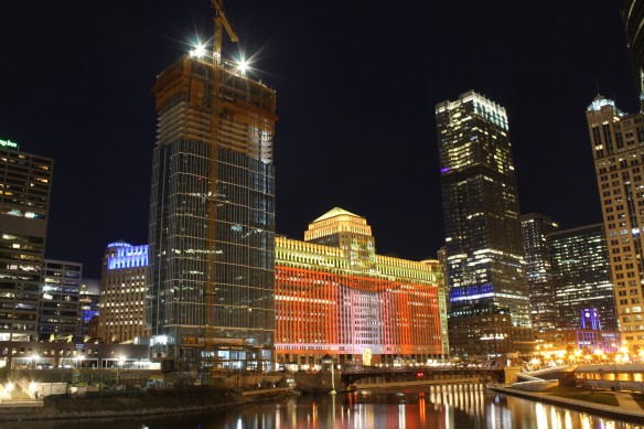 Wolf Point East at night