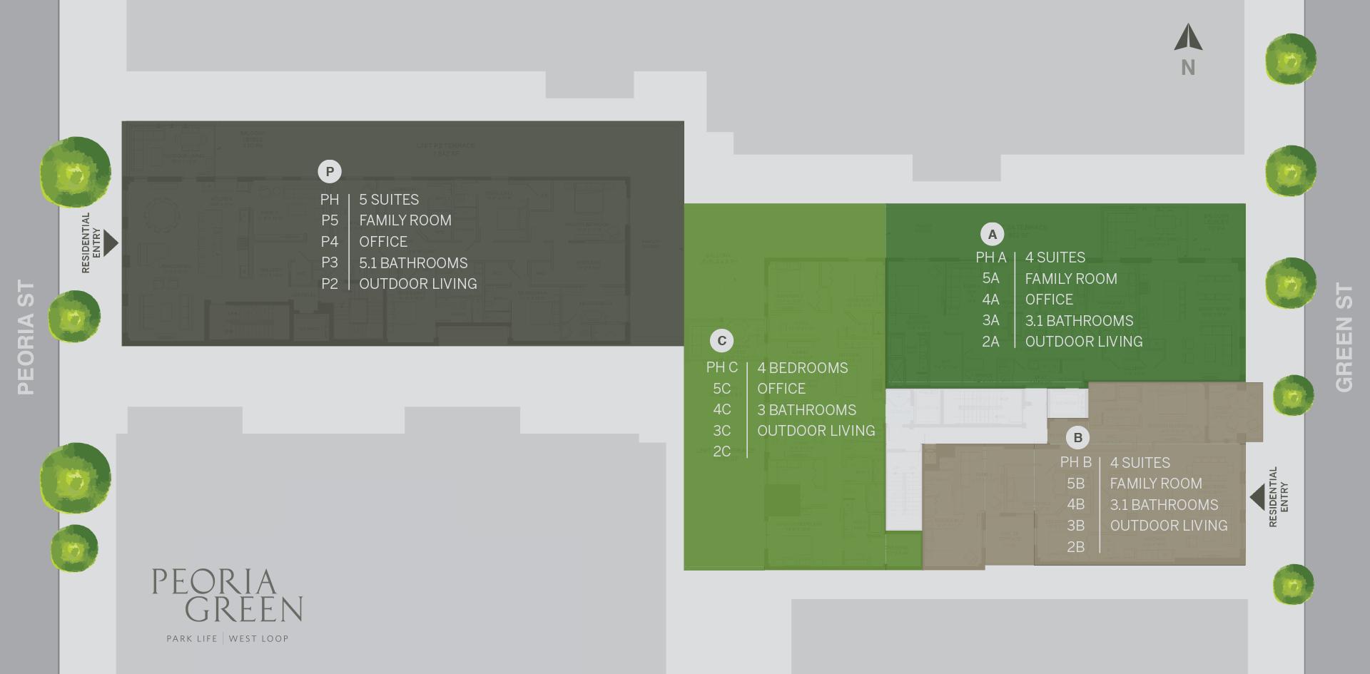 Peoria Green ZSD site plan